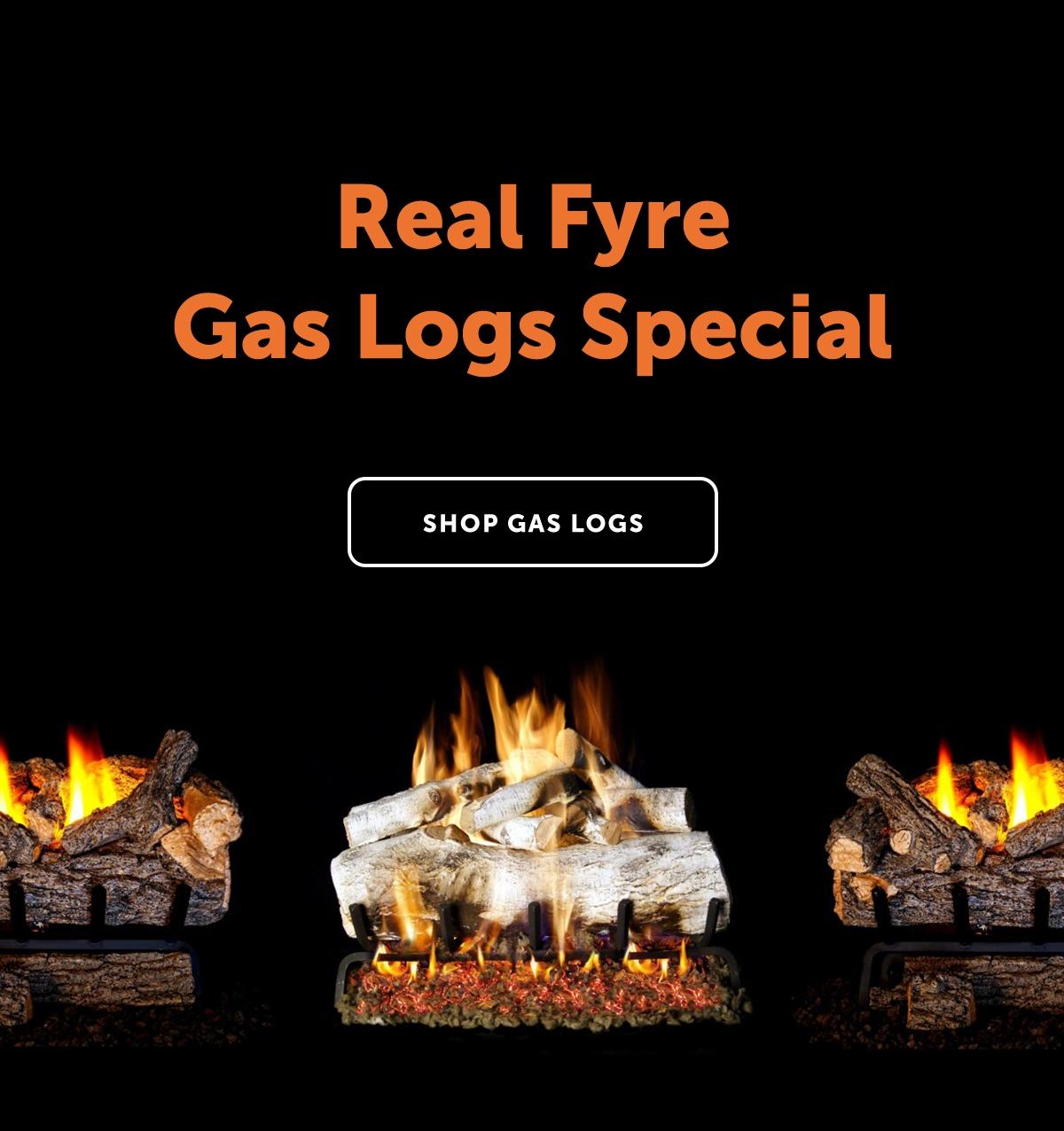 Real Fyre Gas Logs Special   Shop Gas Logs