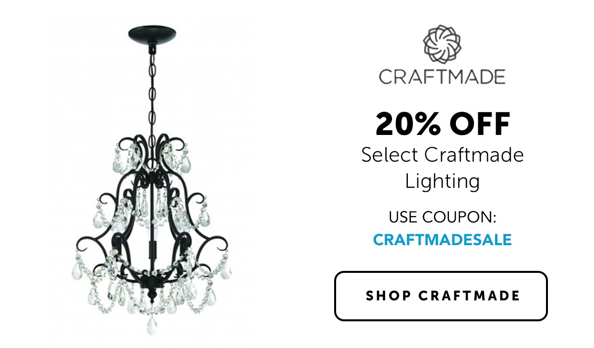 Craftmade - 20% OFF - Select Craftmade Lighting - Use Coupon: CRAFTMADESALE | Shop Craftmade