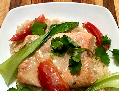 Sockeye Salmon Coconut Curry