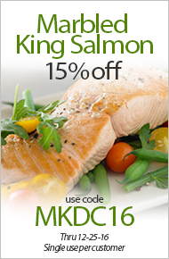 Marbled King Salmon – 15% Off Use Code MKDC16 - Thru 12-25-16 - Single use per customer