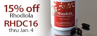 15% Off Rhodiola In Wild Salmon Oil - RHDC16 thru Jan. 4
