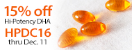 15% Off Hi-Potency Omega-3 DHA - HPDC16 thru Dec. 11