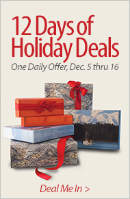 12 Days of Holiday Deals - Delicious Dozen – 15% Off - One Daily Offer, Dec. 5 thru 16 - Deal Me In