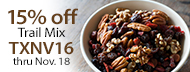 Certified Organic - 15% Off Trail Mix - TXNV16 thru Nov. 18