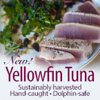 NEW Yellowfin Tuna Skinless-Boneless Steaks
