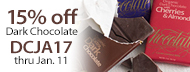 15% Off Organic Dark Chocolate - DCJA17 thru Jan. 11