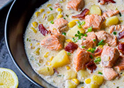 Bacon-Leek Sockeye Salmon Chowder