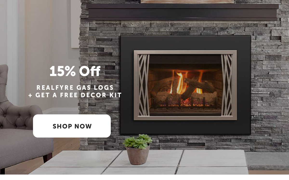 15% Off RealFyer Gas Logs + Get a free decor kit | Shop Now