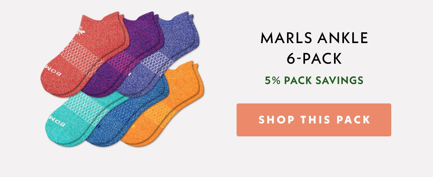 Women's Marls Ankle 6-Pack. Shop This Pack.