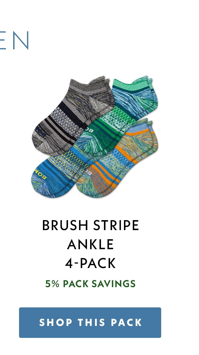 Men's Brush Stripe Ankle 4-Pack. Shop This Pack.