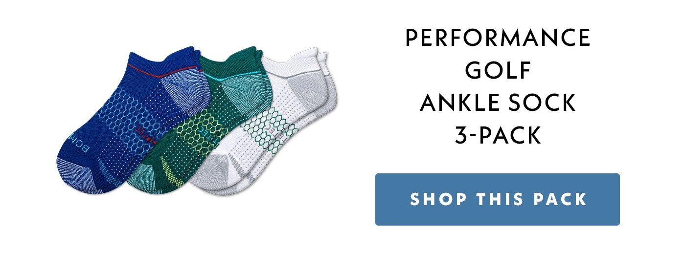 Men's Performance Golf Ankle Sock 3-Pack. Shop This Pack.