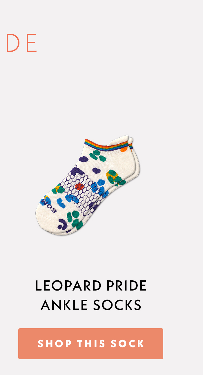 Leopard Pride Double Ankle Socks. Shop This Sock.