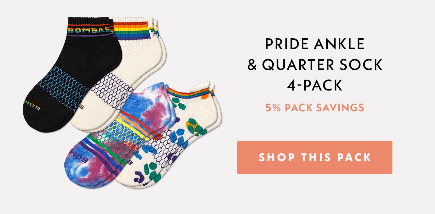 Pride Ankle & Quarter Sock 4-Pack   5% Pack Savings   Shop This Sock