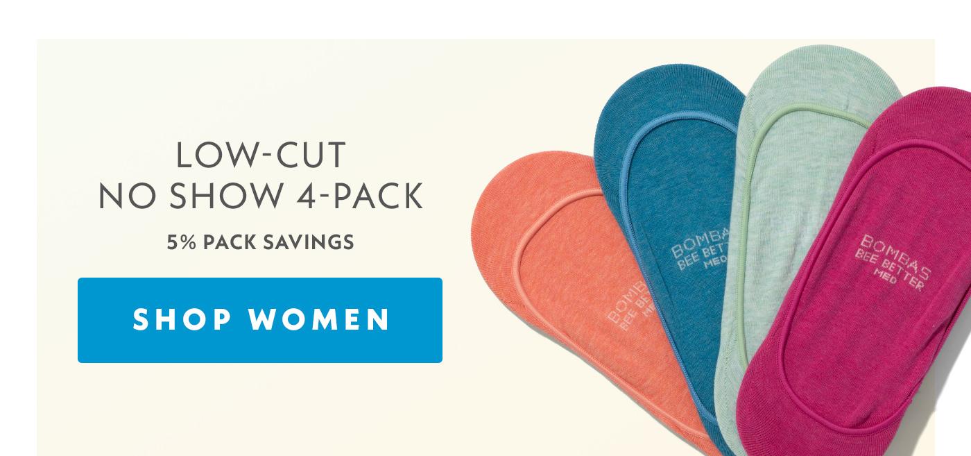 Low-Cut No Show 4-Pack | 5% Pack Savings | Shop Women