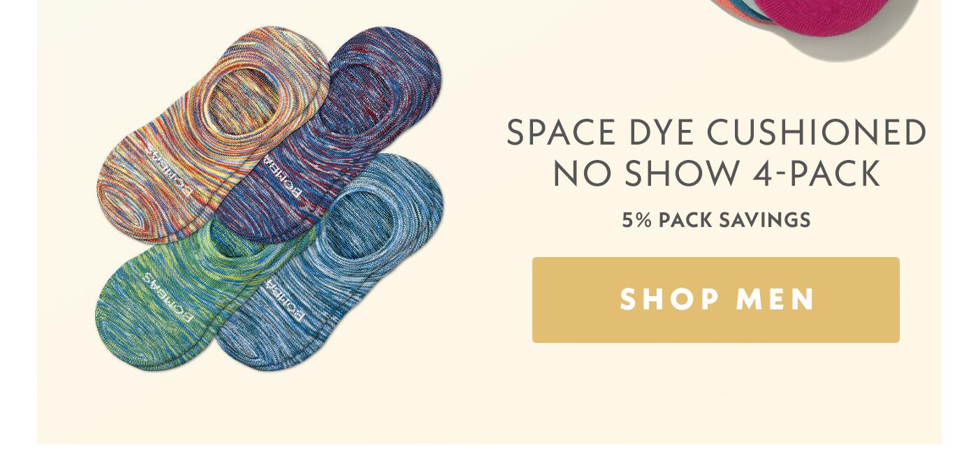 Space Dye Cushioned No Show 4-Pack | 5% Pack Savings | Shop Men