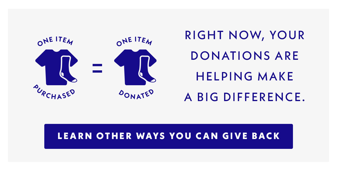 Right now, your donations are helping make a big difference. Learn other ways you can give back.