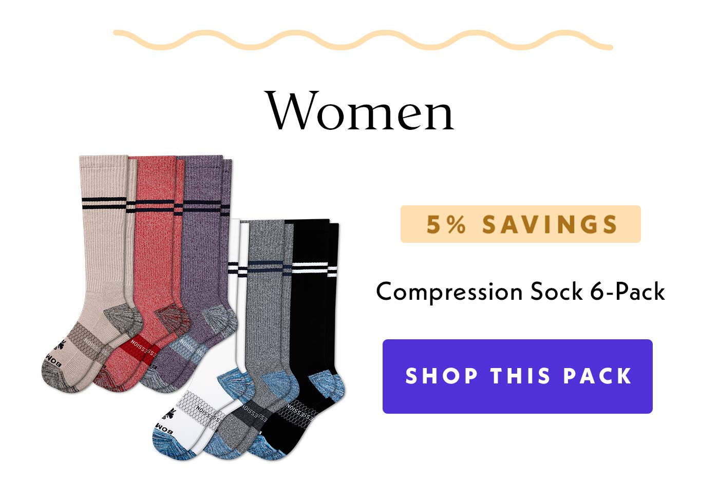 Women | 5% Savings | Compression Sock 6-Pack | Shop This Pack
