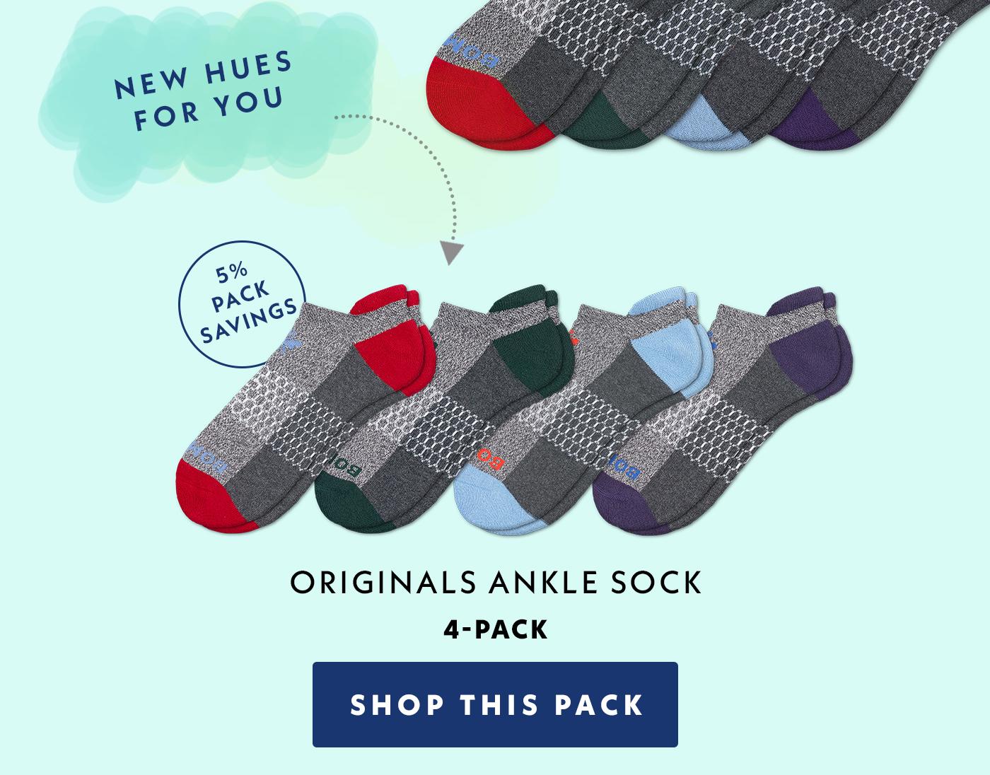 5% Pack Savings | Originals Ankle Sock | 4-Pack | Shop This Pack