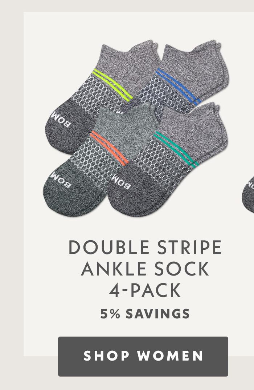 Double Stripe Ankle Sock 4 Pack. Shop Women