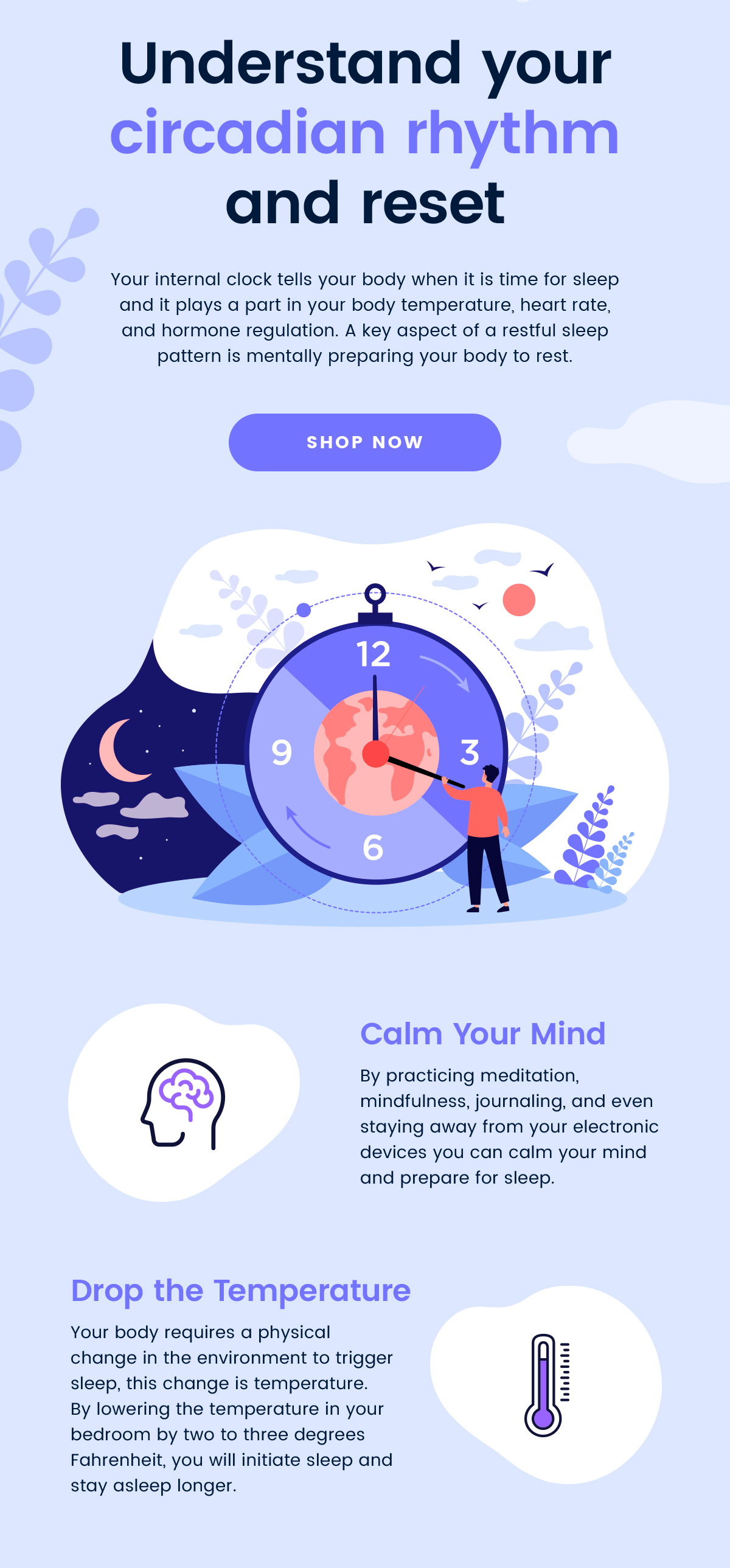 Understand your circadian rhythm and reset | Calm Your Mind | Drop the Temperature | SHOP NOW